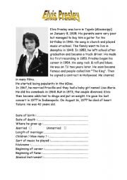 English Worksheets: Elvis Presley