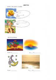 English Worksheets: greeting