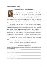 English Worksheet: Test on famous people�s daily routine