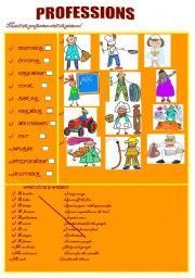 English worksheet: professions