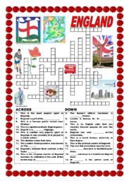 England - crossword