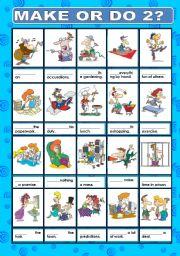 English Worksheet: MAKE OR DO? 2