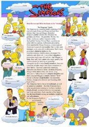 English Worksheet: The Simpson´s family