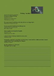 English Worksheets: Writing for pre-intermediate students