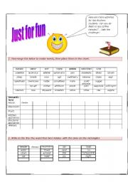 English Worksheets: JUST FOR FUN (Part 1)