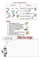English Worksheets: cook