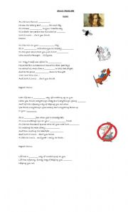 english worksheets ironic by alanis morissette. Black Bedroom Furniture Sets. Home Design Ideas