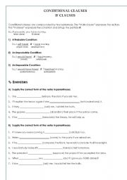 If clauses english worksheets