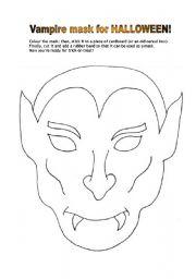 Vampire mask for Halloween