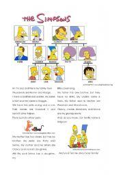 English Worksheet: Simpsons� Family Tree