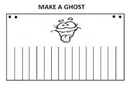 English Worksheets: HALOWEEN- MAKE A GHOST