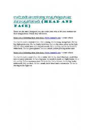 English Worksheets: Make a face