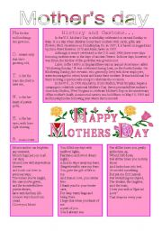 English Worksheet: MOthers day