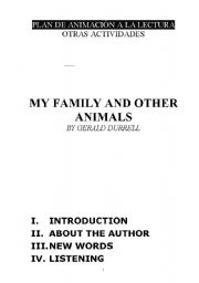 English Worksheets: My family and other animals (Reading)