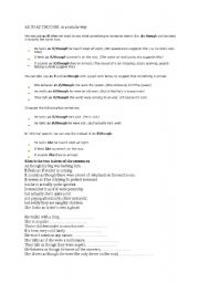 English Worksheets: As if