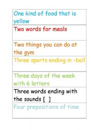 English Worksheets: Word Race