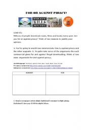 English Worksheet: Let�s talk about music. 4 skills lesson plan:
