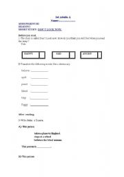 English Worksheets: Activities for the reader: Don´t look now!
