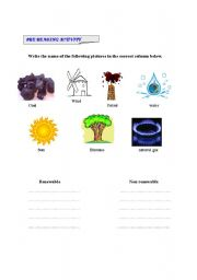 pre-reading activity renewable energy