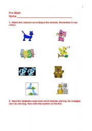 English Worksheets: PRE-MATH