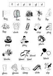 English teaching worksheets: Initial blends