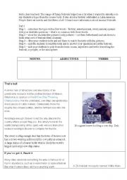 English Worksheets: Funny Festivals aroung the world