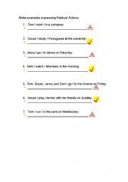 English Worksheets: Habitual actions