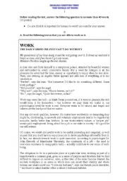 English Worksheet: The World of Work - test - 11th grade
