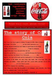 FILL IN THE GAP: COCA-COLA HISTORY