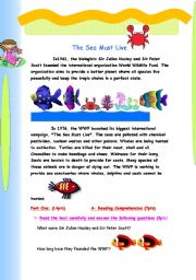 English Worksheets: The sea must live
