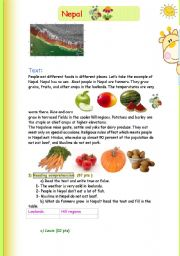 English Worksheets: Nepal