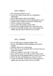 English Worksheet: Shopping Conversation Questions