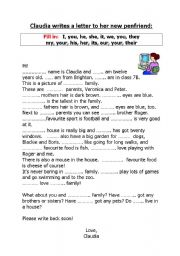 Personal and possessive pronouns