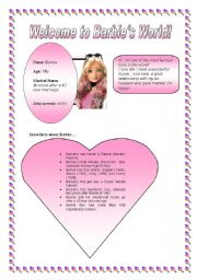 English worksheet: Some facts about Barbie!