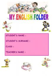 my english folder with diddl and diddl´s friends