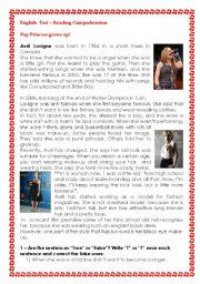 English Worksheets: Avril Lavigne