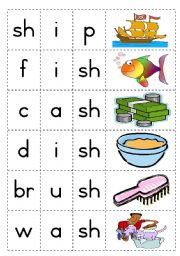 Consonant diagraph - sh - Game