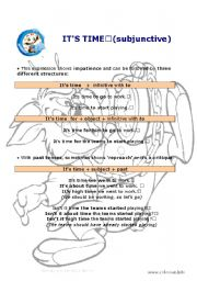 English Worksheets: It�s time (subjunctive)