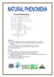 English Worksheets: Natural phenomena crosswords (with key)