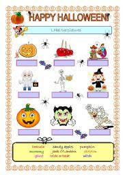 English worksheet: Happy Halloween!