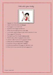 English Worksheets: Body Talk!