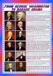 English Worksheet: From George Washington to Barack Obama (part 1) - 2 pages