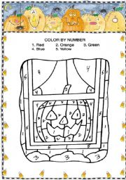 Colour by number - HALLOWEEN