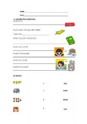 English Worksheets: Elemtary questions