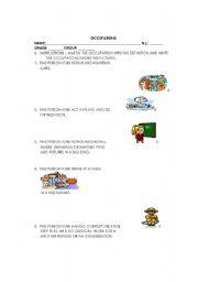 English worksheet: MATCH EXERCISE
