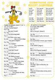 English Worksheets: TO BE (3) QUESTIONS AND SHORT ANSWERS