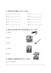 English Worksheets: 2nd grades weekend worksheet