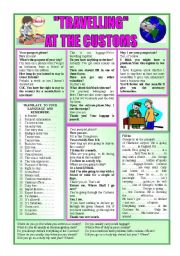 English Worksheet: ´´TRAVELLING´´-AT THE CUSTOMS