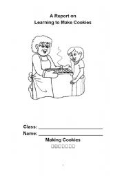 English Worksheets: Making Cookies