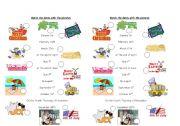 Match making worksheet